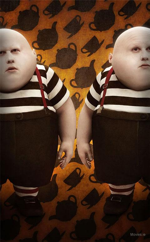 Tweedledee and Tweedledum - Tim Burton's Alice in Wonderland