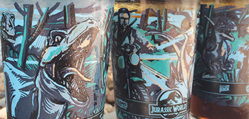 Jurassic World Pint Glasses