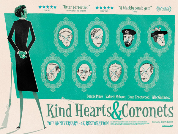 Kind Hearts and Coronets UK Quad Poster