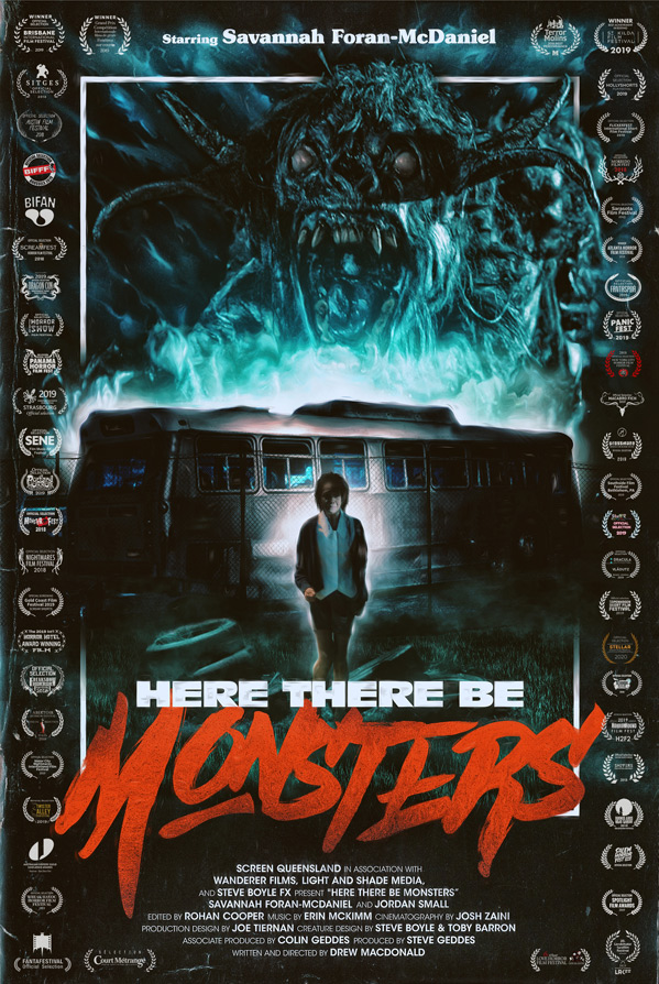 Here There Be Monsters Short Poster