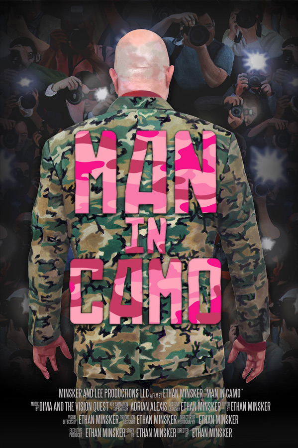 Man in Camo Poster