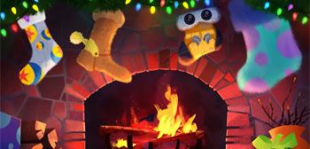 Pixar Holiday Fireplace