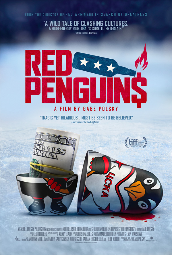 Red Penguins Poster