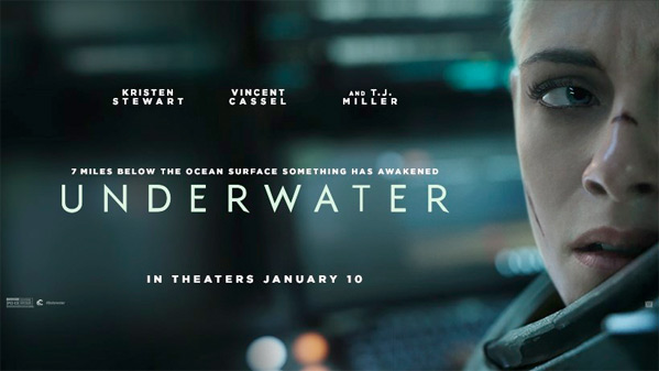 Kristen Stewart & Vincent Cassel in First Trailer for 'Underwater' Movie