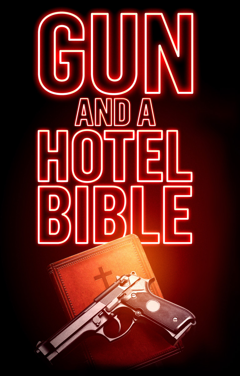 Gun and a Hotel Bible Poster