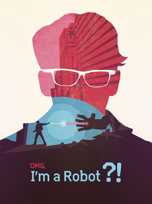 OMG, I'm a Robot Poster