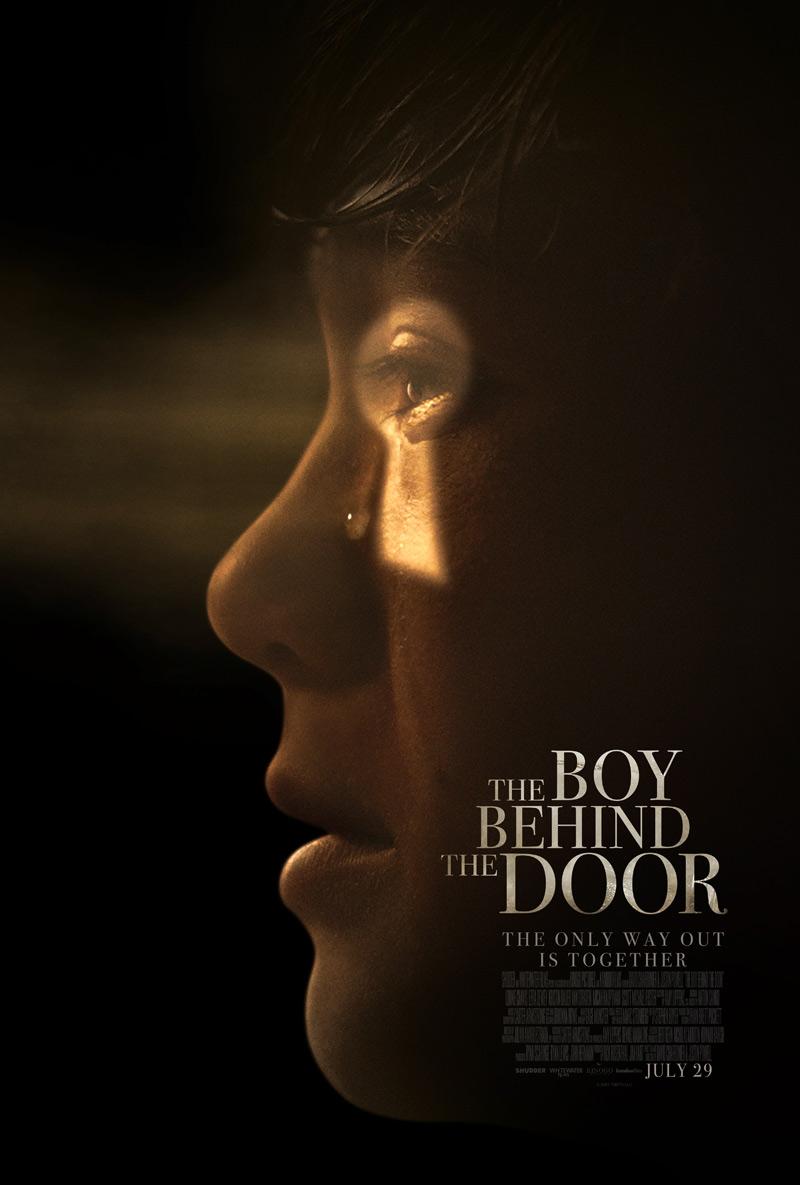 Boy outside the door