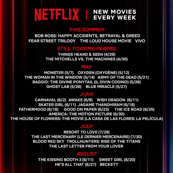 Netflix Summer Movie Preview