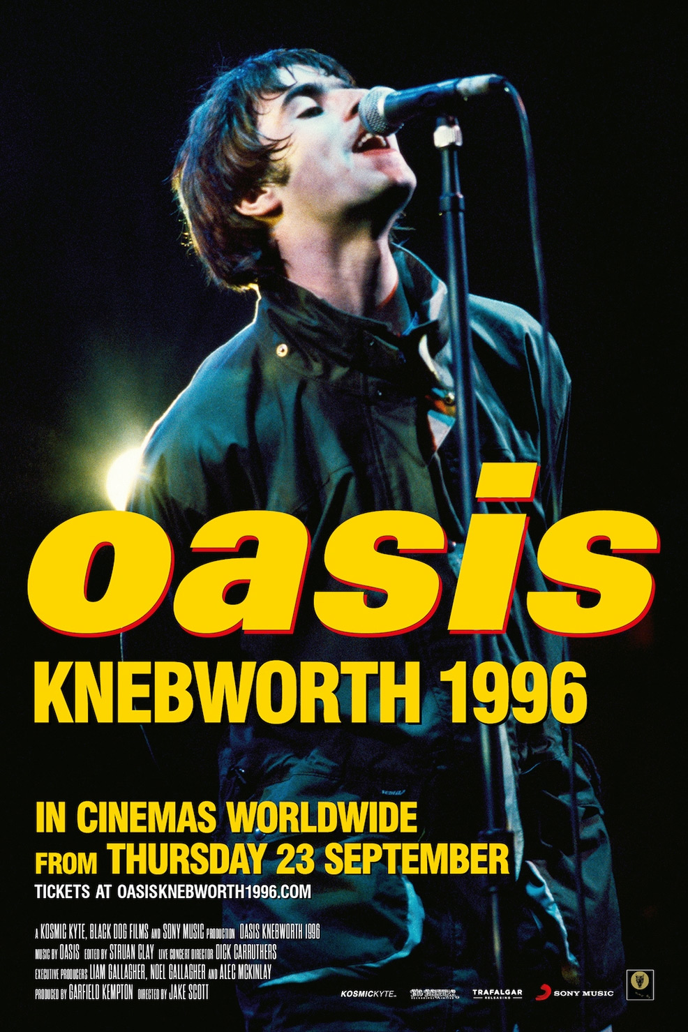 Oasis Knebworth 1996 Poster