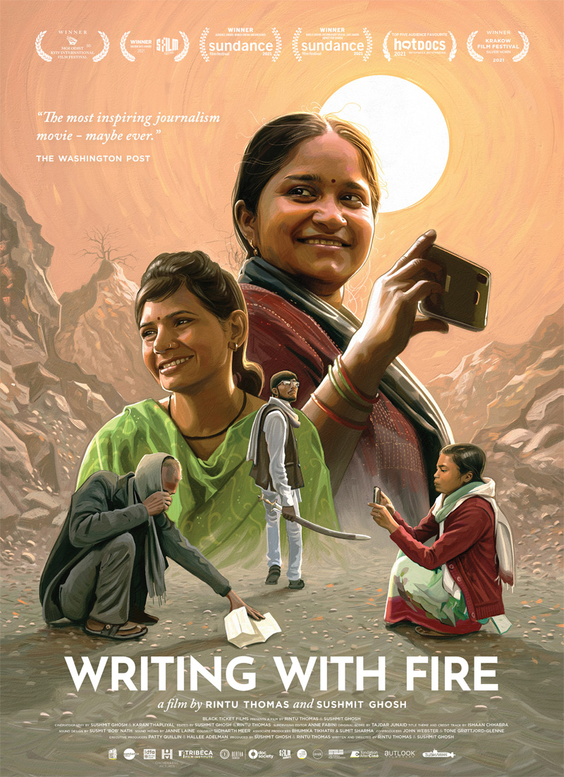 Writing with Fire Poster