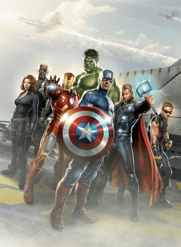 The Avengers Concept Art - Team Shot 1