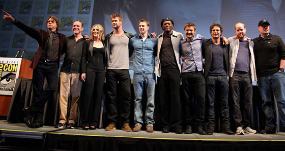 The Avengers Line-Up at Comic-Con