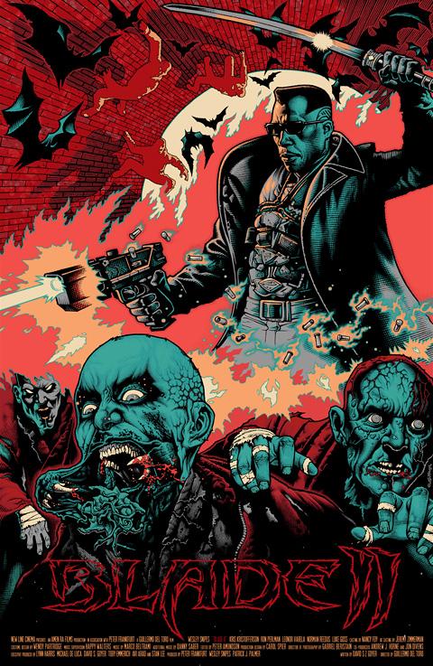 Guillermo del Toro's Mondo Poster - Blade 2