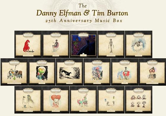 Tim Burton & Danny Elfman 25th Anniversary Music Box