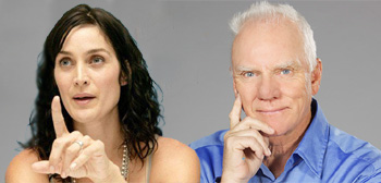 Carrie-Anne Moss / Malcolm McDowell