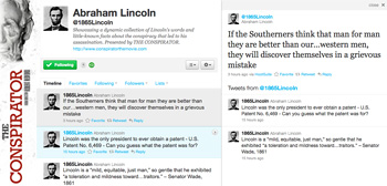 The Conspirator Lincoln Twitter