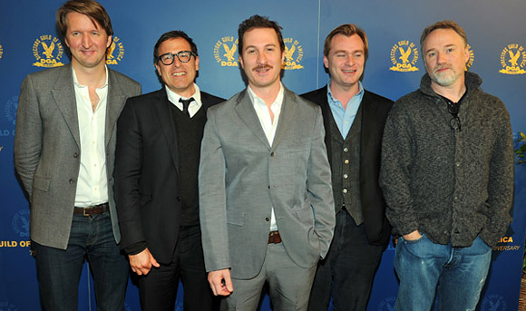 Tom Hooper, David O. Russell, Darren Aronofsky, Christoper Nolan, David Fincher