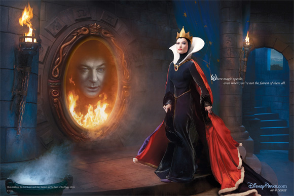 Live Action Disney - Evil Queen and Magic Mirror