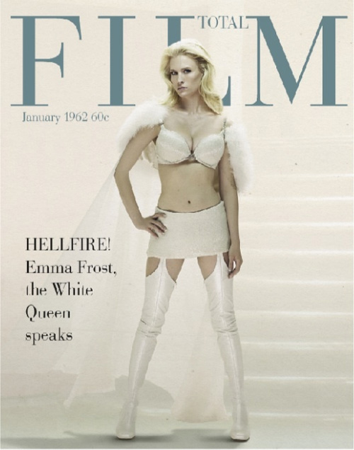 Emma Frost Retro Magazine Cover
