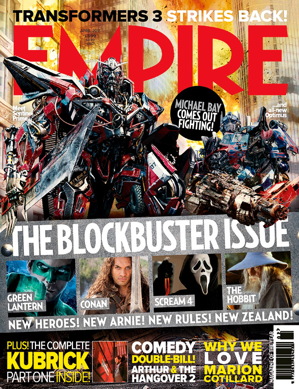 Empire's Sentinel Prime Magazine Cover - Transformers: Dark of the Moon