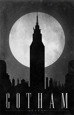 Justin Van Genderen - Travel Poster - Gotham City