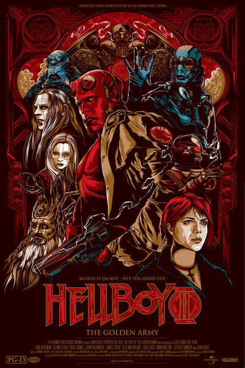 Guillermo del Toro's Mondo Poster - Hellboy 2