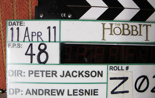 The Hobbit clapperboard