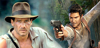 Indiana Jones and Nathan Drake
