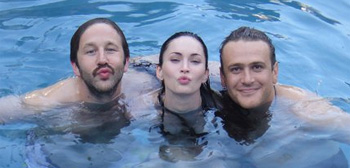 Chris O'Down, Megan Fox and Jason Segel