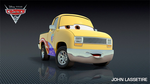 John Lassetire from Pixar's Cars 2