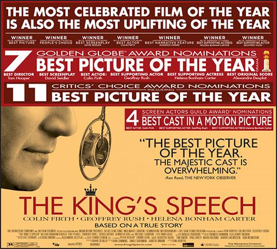 The King's Speech Awards Advertisement