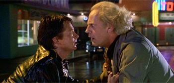 Marty McFly and Doc Brown