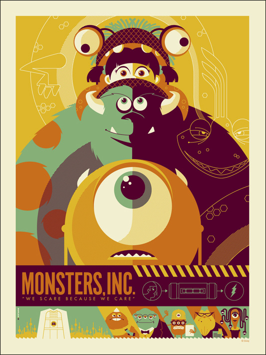 Monsters Inc. Mondo Poster