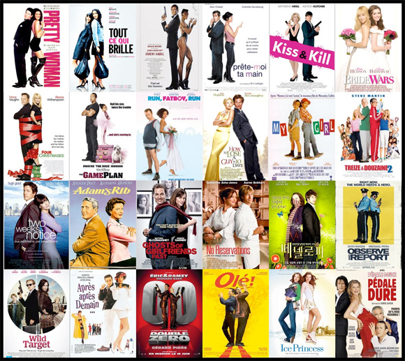 Movie Poster Trends -Back-to-Back Couples