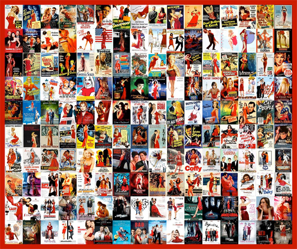 Movie Poster Trends - Red Dresses