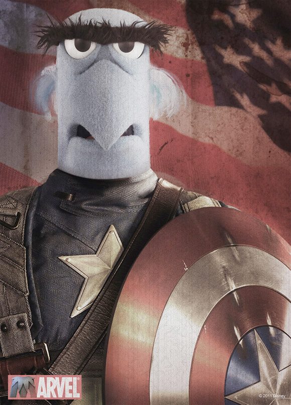 The Muppets - Captain America Poster