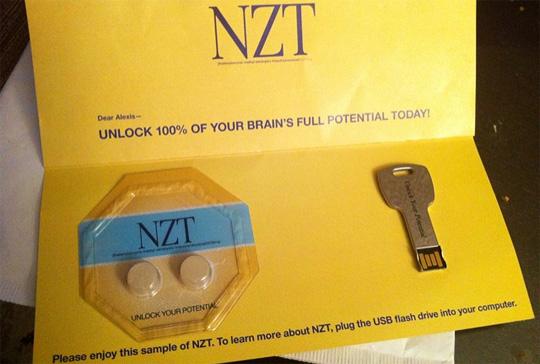 NZT Drug Sample Mailer