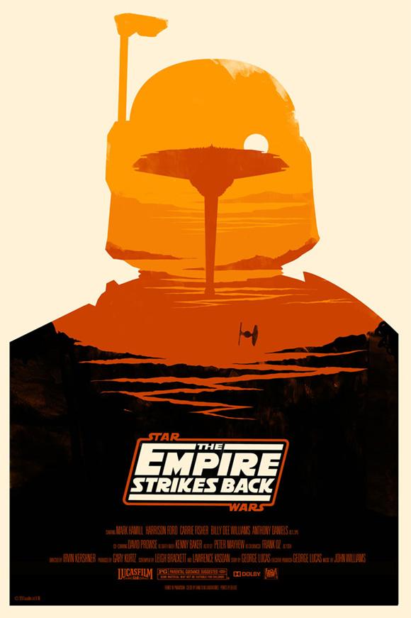 Olly Moss Empire Strikes Back