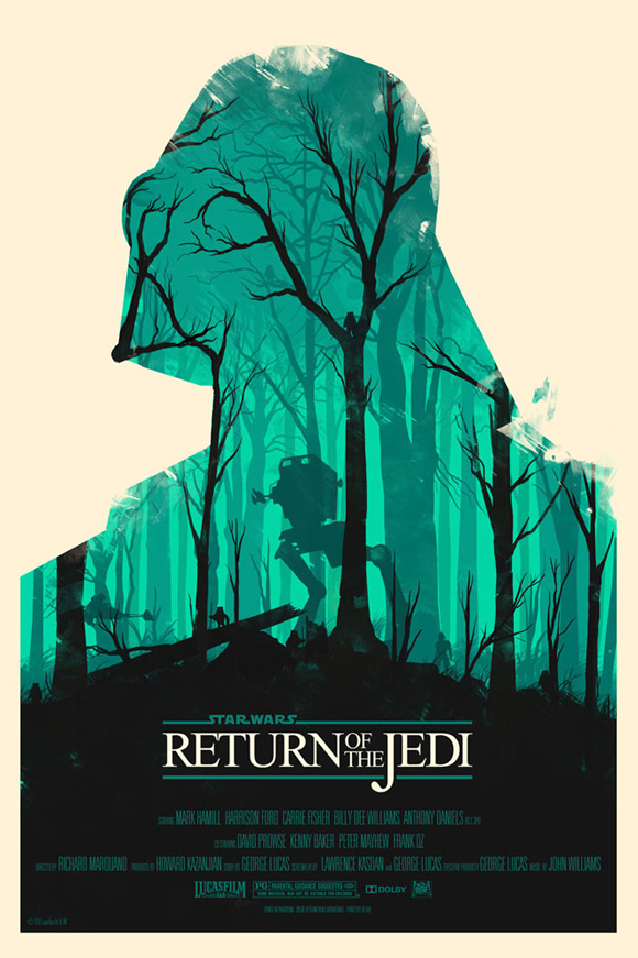 Olly Moss Return of the Jedi