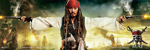 Pirates of the Caribbean: On Stranger Tides Banner