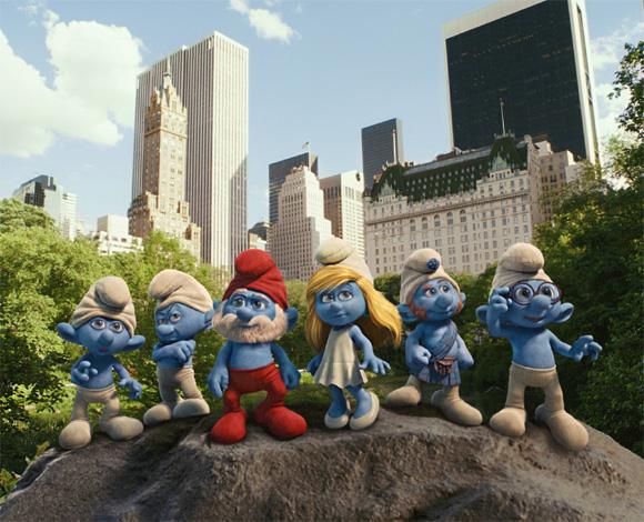 Smurfs in Central Park