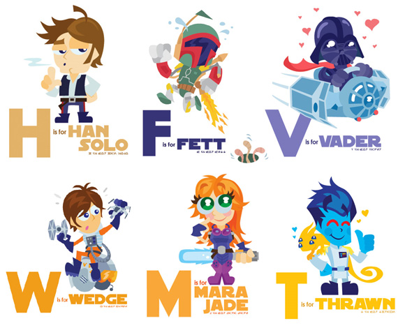 Star Wars ABC Samples