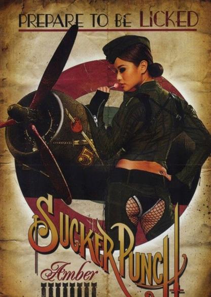 Sucker Punch Vintage Poster - Amber