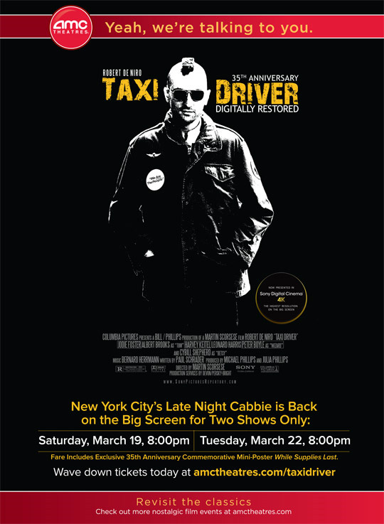 Taxi Driver Anniversary poster
