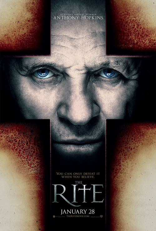 The Rite Poster with Anthony Hopkins