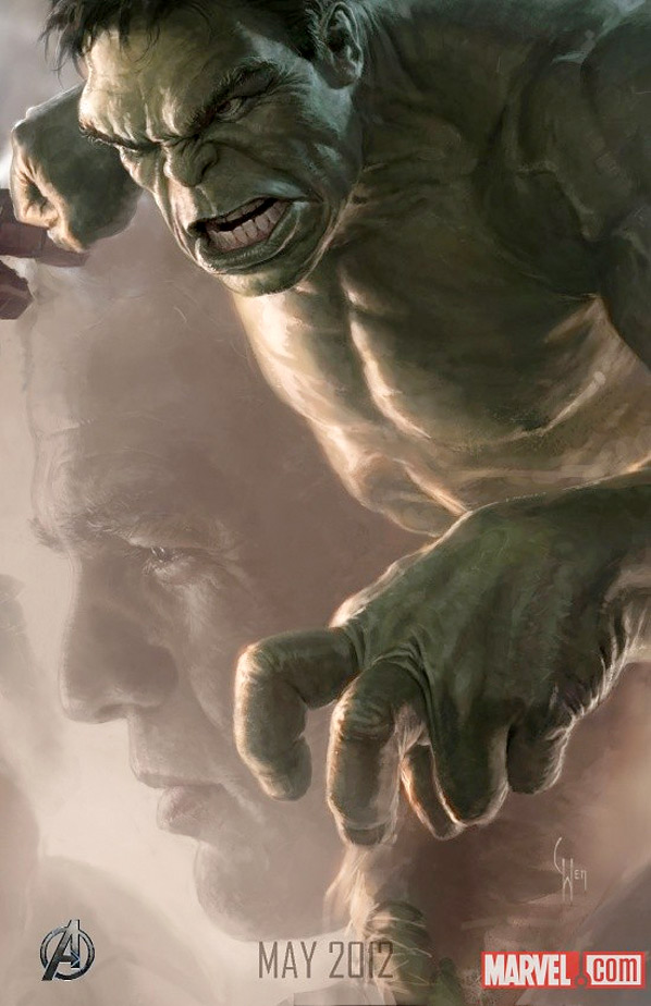 Hulk in The Avengers Poster