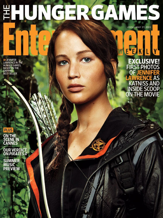 Jennifer Lawrence as Katniss in The Hunger Games