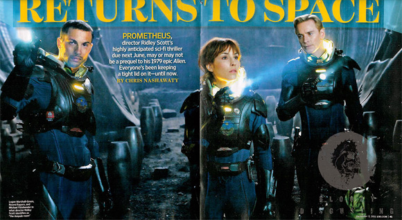 Ridley Scott's Prometheus - Entertainment Weekly
