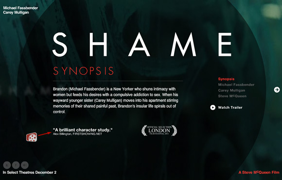 Fox Searchlight - Shame Website