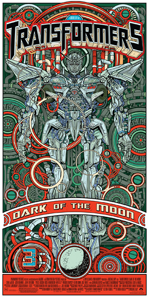 Transformers: Dark of the Moon Mondo Poster